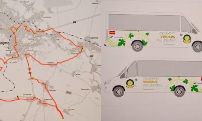 Vinobus má 32 míst, 15 zastávek a 66 km (dlouhou) trasu